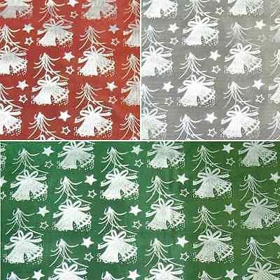Polycotton Fabric Celebration Christmas Carols Jingle Bells Silent Night Festive