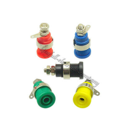 5Pcs 5 Color 4mm M12 Binding Post Connector Banana Plug Female Audio Power