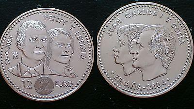 SPAIN Official 10 Euro Silver Coin 2004 PROOF EU-Europa