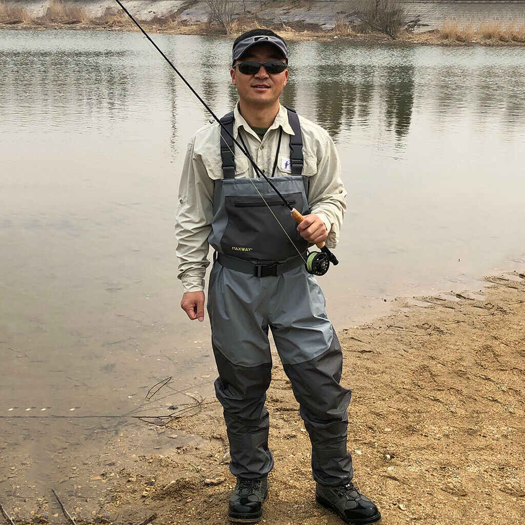 imperméable Wading Pants with bottes, Fly Fishing Waders for Hommes femmes