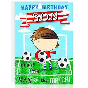 Joyeux Anniversaire Carte De Vœux Great Football Design Foot Sport Ebay