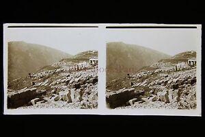 Grecia Delfi Grecia WW1 Foto Vintage Vetro Stereo Ca 1916