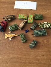 Vintage Mini Micro Machines etc Small Army Vehicles Mini Figure