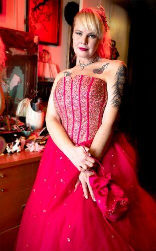 "Pink Ball Gown Tiffany Designs 29"" Waist Medium"