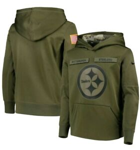 sale uk best value famous brand Details about NEW Pittsburgh Steelers Nike Salute to Service Pullover  Hoodie YOUTH S SMALL