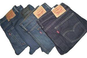 Levi-039-s-Hombre-510-Azul-Oscuro-Ajustados-Pantalon-Vaquero-W31-W32-W33-W34