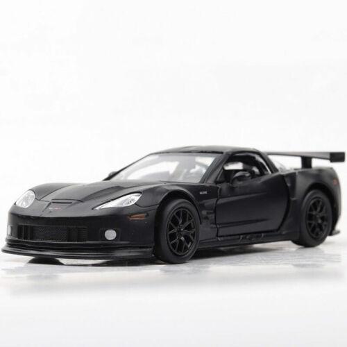 1:36 Chevrolet Corvette C6-R Die Cast Modellauto Auto Spielzeug Model Schwarz