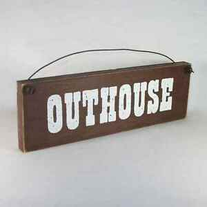 Marvelous Image Is Loading OUTHOUSE Sign Bathroom Bath Country Rustic Farmhouse  Assorted