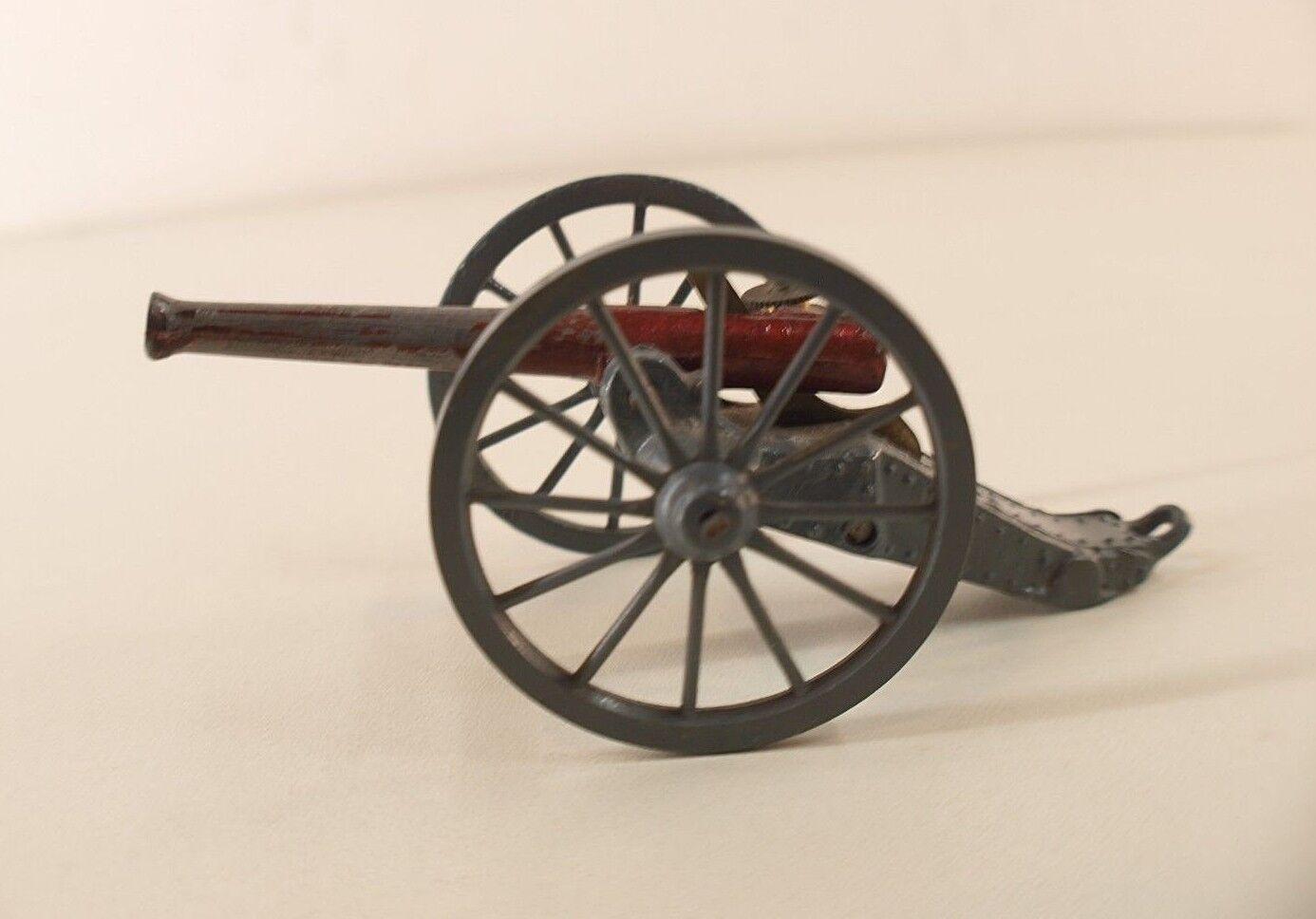 Vintage 1915 Britains Confederate  2058 Patent  1215 Toy Artillery Cannon canon