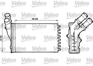 Wärmetauscher Innenraumheizung für Heizung//Lüftung VALEO 812005