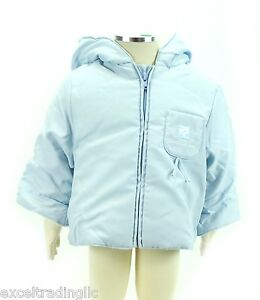 Jacadi Girl's Sceau Celestial Blue Microfiber Parka Size 6 Months Nwt $66 Clothing, Shoes & Accessories