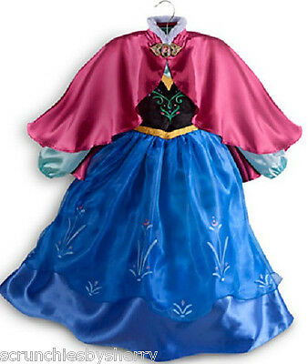 Disney Store Frozen Anna Dress Costume Princess Fancy Size 5/6 New