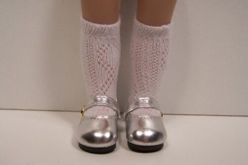 """Metallic SILVER Doll Shoes For 10/"""" Ann Estelle Sophie Patsy Debs"""