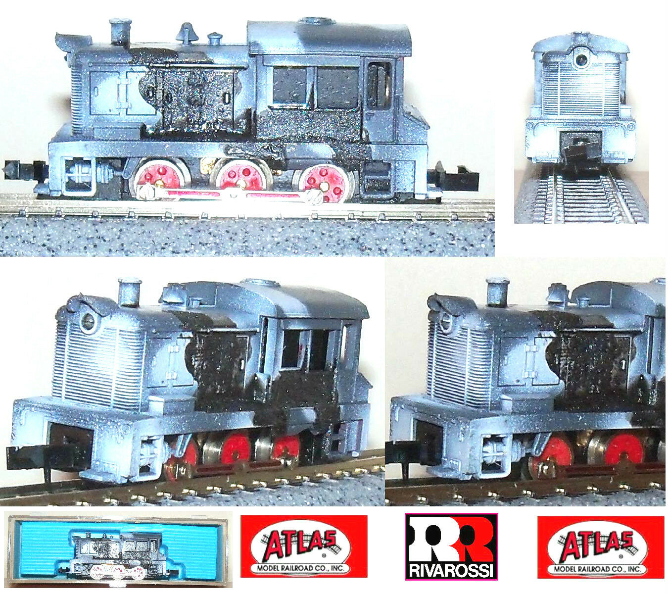 ATLAS 4069 By RIVAROSSI LOCOMOTIVA SWITCHER PAINTED WEHRMACHT WWI OVP SCALA-N