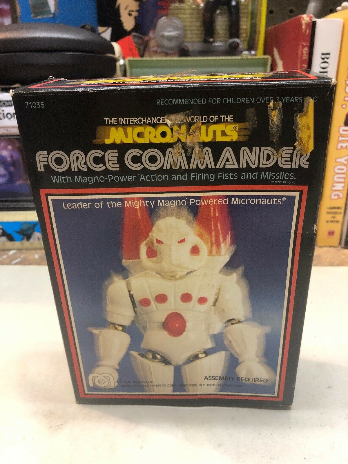 Vintage 1977 Mego Micronauts FORCE COMMANDER In Original BOX
