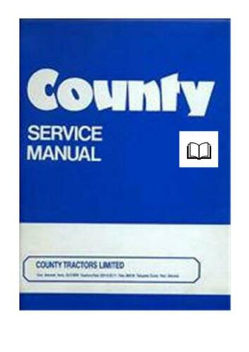 Ford County Workshop Manual Printed