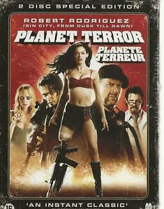 NEW-DOUBLE-DVD-PLANET-TERROR-ENGLISH-FRANCAIS-region-2-PAL-QUENTIN-TARANTINO