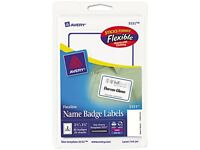 Flexible Self-adhesive Laser/inkjet Badge Labels 2 11/32 X 3 3/8 Be 40/pk on sale