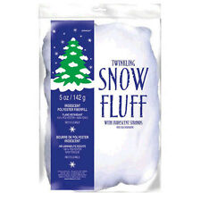 5oz Christmas Winter Wonderland Polyester Twinkling Snow Fuff Decoration