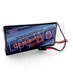 Lipo-World-2S-6-6V-20C-2100mAh-LiFe-LiFePo-Empfaenger-Akku-RX-Receiver-Futaba-JR