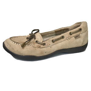 Dr-Andrew-Weil-Tan-Suede-Leather-Orthaheel-Discovery-Loafers-Shoes-Womens-6-5