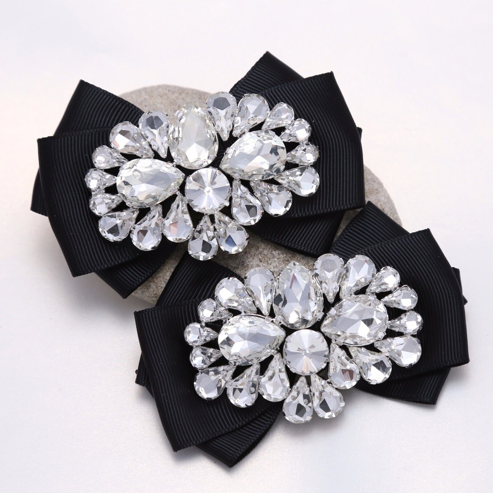 Diamante Crystal Ribbon Bow Butterfly High Heel Shoe Clips Charms Decoration