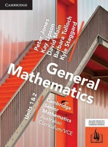 Cambridge General Mathematics VCE Units 1 & 2 PDF Textbook **FAST DELIVERY**
