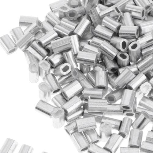 100x Klemmhülsenzange Quetsch-Hülsen Angeln Zubehör für Stahlvorfächer 1 mm