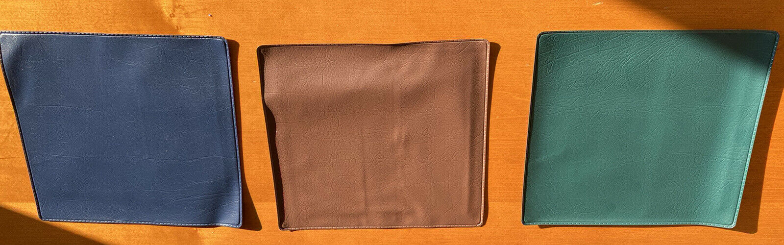 1 Blue or Brown or Green VINYL Checkbook Cover Duplicate Flap ebayID mouthyMo