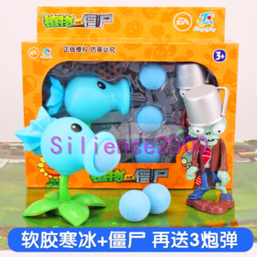 Plants vs Zombies Giant Zombie Pea Shooter Action Figure Gifts Toys Children
