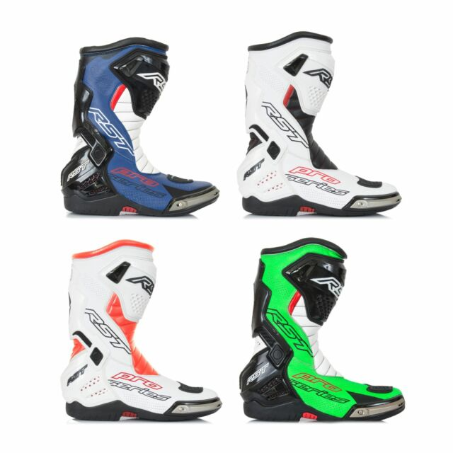 Mens Motorbike//Motorcycle Racing Boots//Shoes Leather Sports Shoes 12 UK, Green//Black