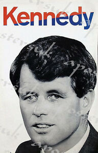 Vintage Robert Bobby Kennedy Election Poster A3//A4 Print