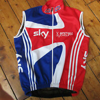 Team GB Great Britain Adidas Nalini Cycling Wind Vest Gillet Sky Size Men's XS