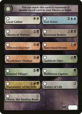 DKA Dark Ascension Checklist Token 10x Flip Cards MTG Magic NM