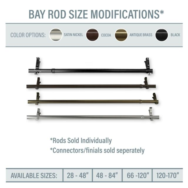 Roy Curtain Rod 1 Od 10 60 Choose, How To Choose Curtain Rod Size