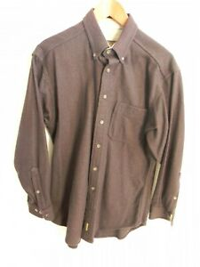 Vintage-Woolrich-Brown-Wool-Mens-LS-Button-up-Shirt-Size-M-Made-in-USA