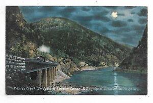 BRITISH-COLUMBIA-White-039-s-Creek-Bridge-and-Fraser-Canon-showing-CPR-Train