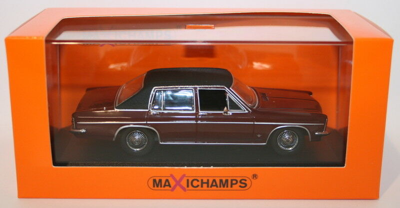 Maxichamps 1 43 Scale Diecast 940 046071 Opel Diplomat 1969 - Dark rot