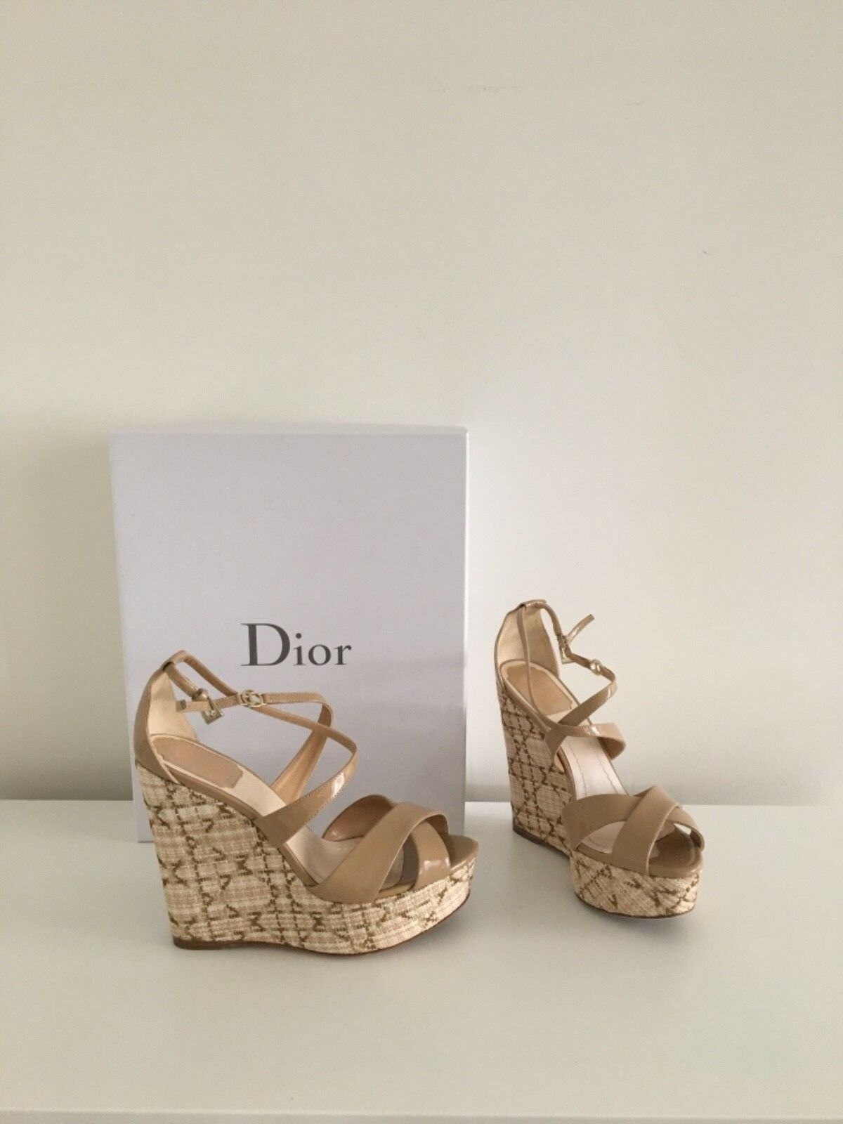 Christian Christian Christian dior wedge schuhe 36 authentic with box invoice 0ccf06