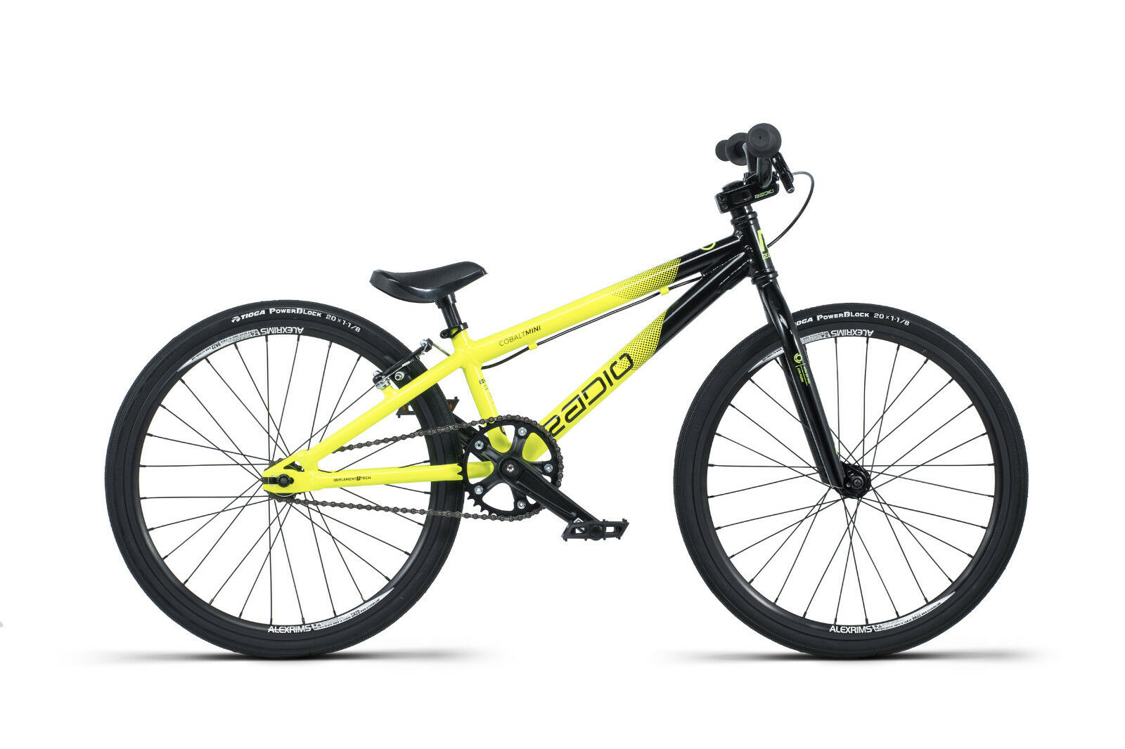 2019 Radio Raceline Kobalt Mini 17.5 black yellow Komplett BMX Rennrad 17.5