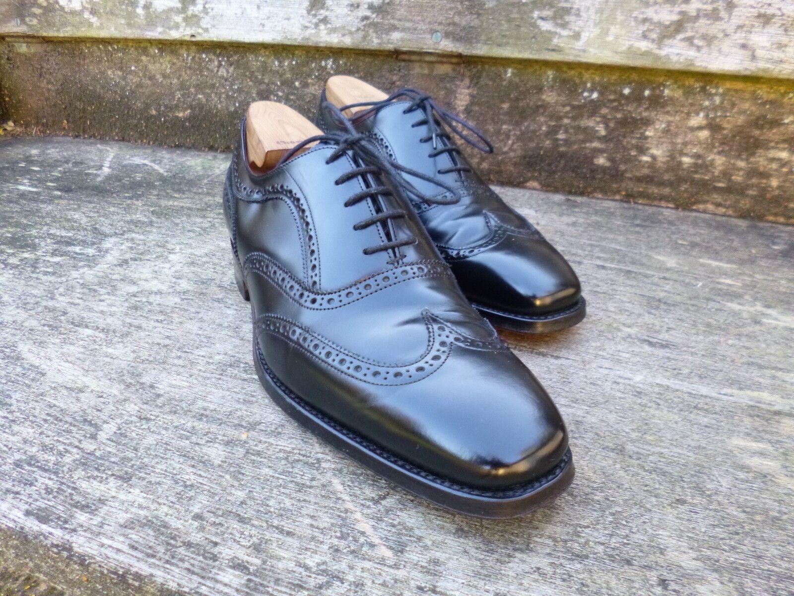 CHEANEY Brogue Zapatos – NEGRO-– una vez usado