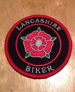 Lancashire Biker !   British Motorcycle PATCH Badge Biker Ace Cafe Badge Rocker