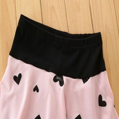 New Baby clothes kids girls tops+Skirt pants Set Outfits autumn clothing Heart