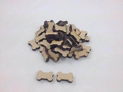 "50 x MDF ""DOG BONES"" - Approx 20mm x 20mm - Embellishments - Shapes -  Blanks"