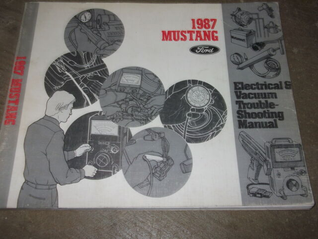 1987 Ford Mustang Electrical Wiring Diagrams Service Shop Repair Manual Factory