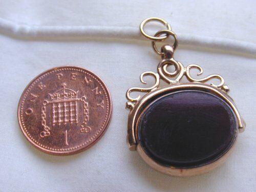 SUPERBA Antico 9 9 9 Carati oro rosa Bloodstone & la corniola Spinner FOB CIONDOLO mozzafiato e4c2a9