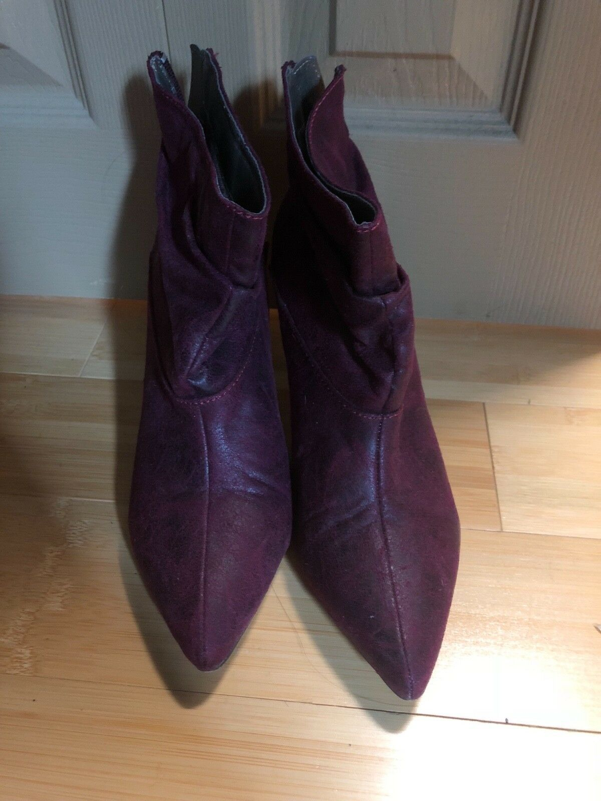 Fall booties size 8- purple