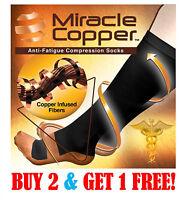 Miracle Copper Socks Anti Fatigue Compression Socks, UNISEX (LARGE/XLARGE)