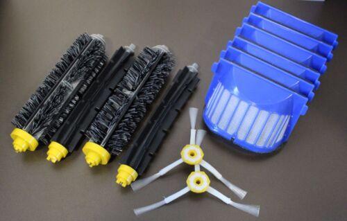 Set Filter und Bürstenset Wartungsset passend Für iRobot Roomba Serie 600