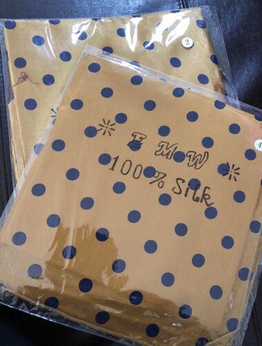 Gelb gep. 2 Teile: Seidentuch 92x92+ Nikituch 100/% Seide blau